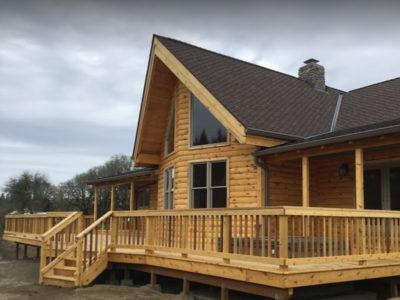 Eugene Log Cabin Gutter Installation